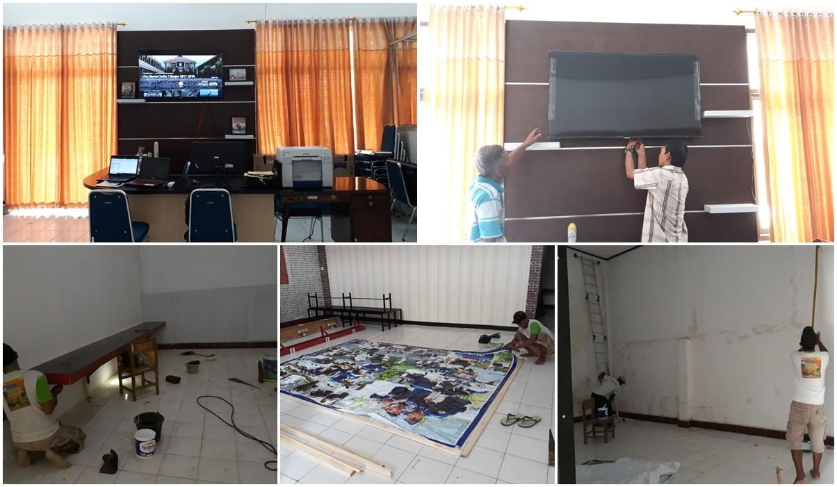 Proses Perapihan Ruangan Editing Teaching Factory